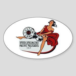 Vintage Custom Cam Pinup Sticker
