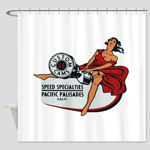 Vintage Custom Cam Pinup Shower Curtain