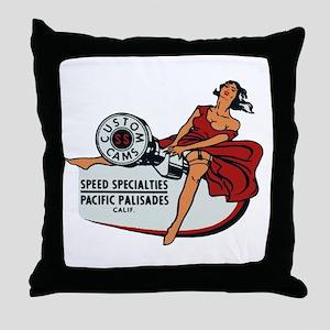 Vintage Custom Cam Pinup Throw Pillow