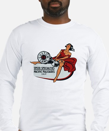Vintage Custom Cam Pinup Long Sleeve T-Shirt