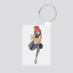 Faded Pinup Maid Keychains