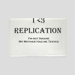 I <3 Replication Rectangle Magnet