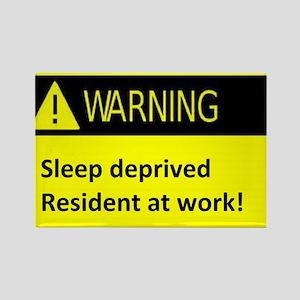 Ssleep deprived resident at work Rectangle Magnet