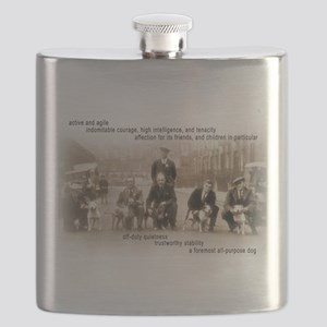 Vintage Crufts Staffordshire Bull Terrier Flask