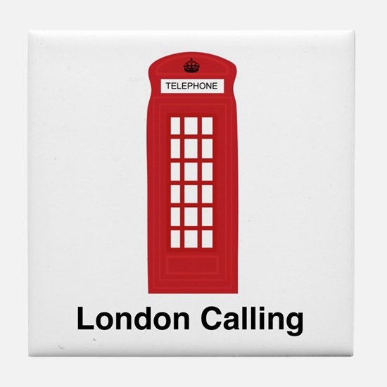 London Calling Tile Coaster