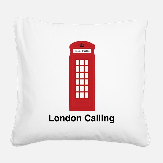 London Calling Square Canvas Pillow