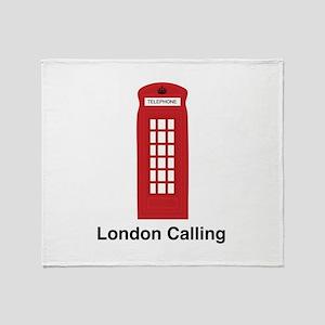 London Calling Throw Blanket