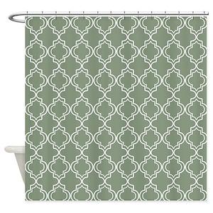Quatrefoil Pattern Shower Curtains