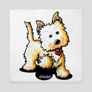 Playful Cairn Terrier Queen Duvet