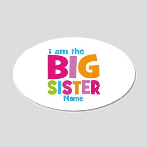 Big Sister Personalized 20x12 Oval Wall Decal