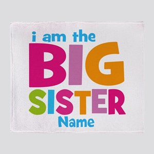 Big Sister Personalized Throw Blanket