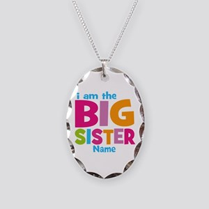 Big Sister Personalized Necklace Oval Charm