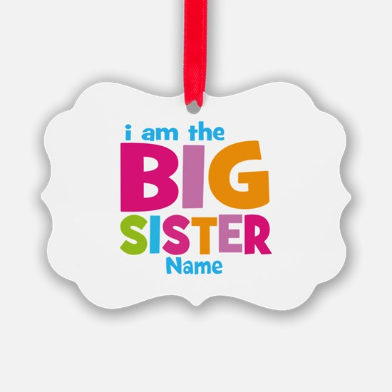 Big Sister Personalized Picture Ornament