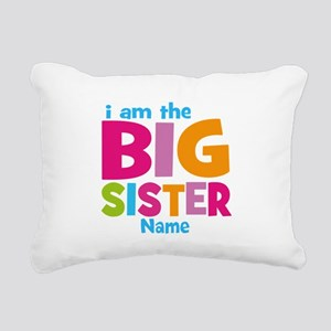 Big Sister Personalized Rectangular Canvas Pillow