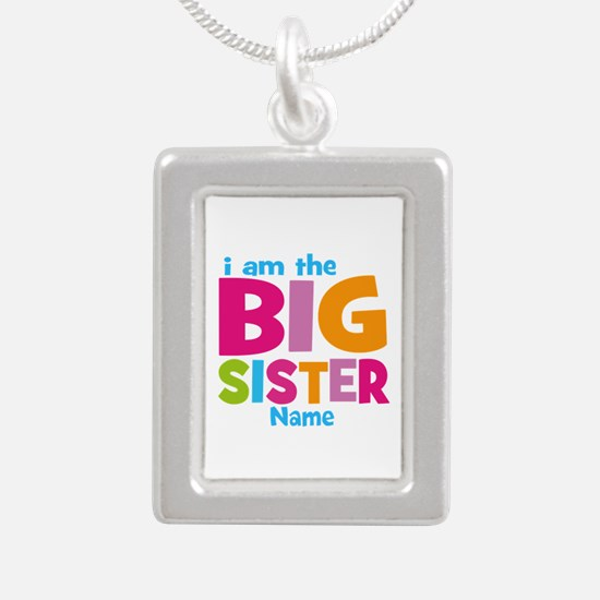 Big Sister Personalized Silver Portrait Necklace