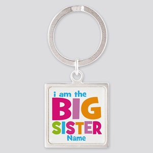 Big Sister Personalized Square Keychain