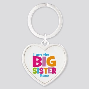 Big Sister Personalized Heart Keychain