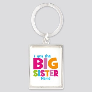 Big Sister Personalized Portrait Keychain