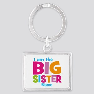 Big Sister Personalized Landscape Keychain