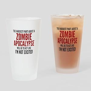 Zombie Apocalypse Drinking Glass