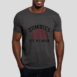 Zombies Ate My Brain Dark T-Shirt