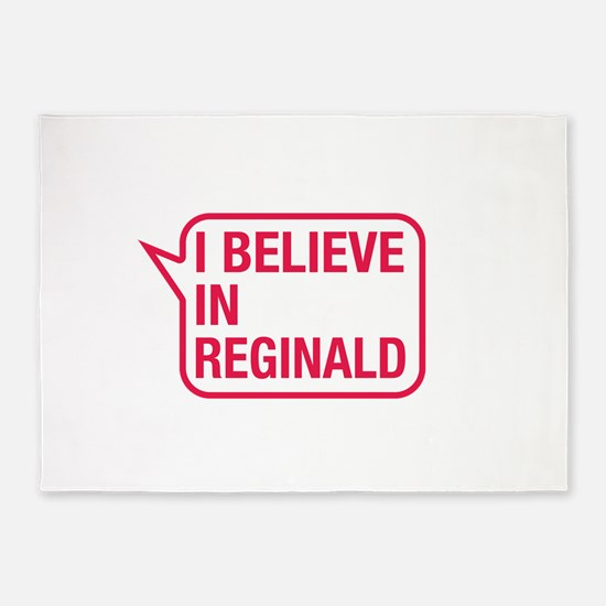 I Believe In Reginald 5'x7'Area Rug