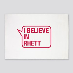 I Believe In Rhett 5'x7'Area Rug