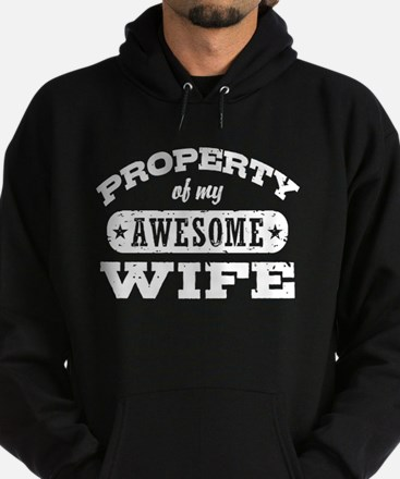 Property Of My Awesome Wife Hoodie (dark)
