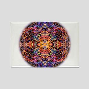 mandala 6 Rectangle Magnet
