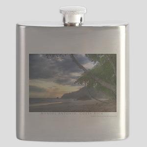 ManuelAntonioBeach14x10 Flask