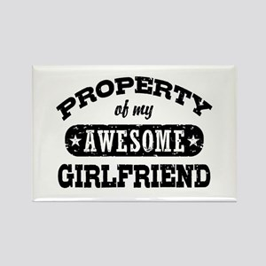 Property Of My Awesome Girlfriend Rectangle Magnet