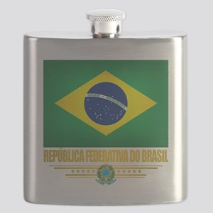 Flag of Brazil Flask