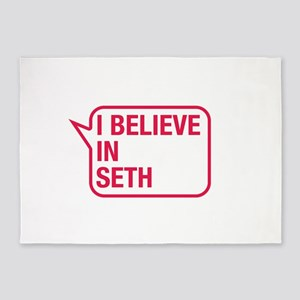 I Believe In Seth 5'x7'Area Rug