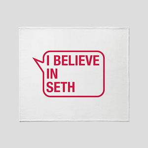 I Believe In Seth Throw Blanket