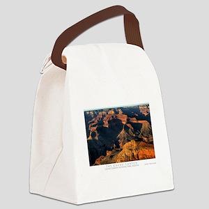 GrandCanyon14x10w Canvas Lunch Bag