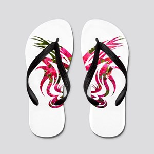 bougainvillea background shape1 Flip Flops