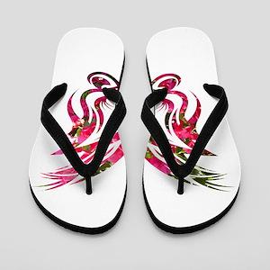 bougainvillea background shape1 Flip Flops