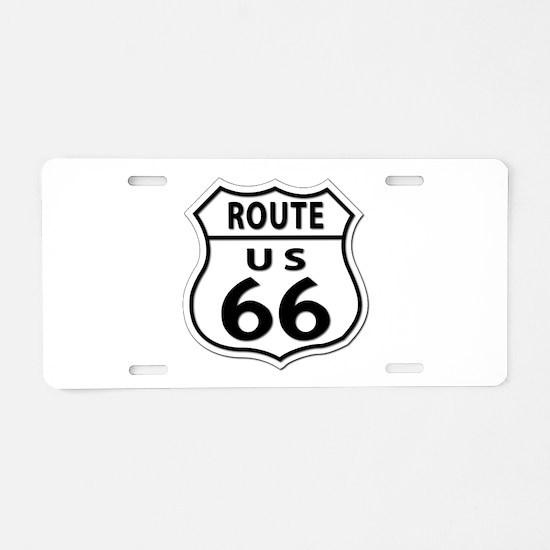 U.S. ROUTE 66 Aluminum License Plate