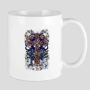 Celtic knot cross affected design Mug