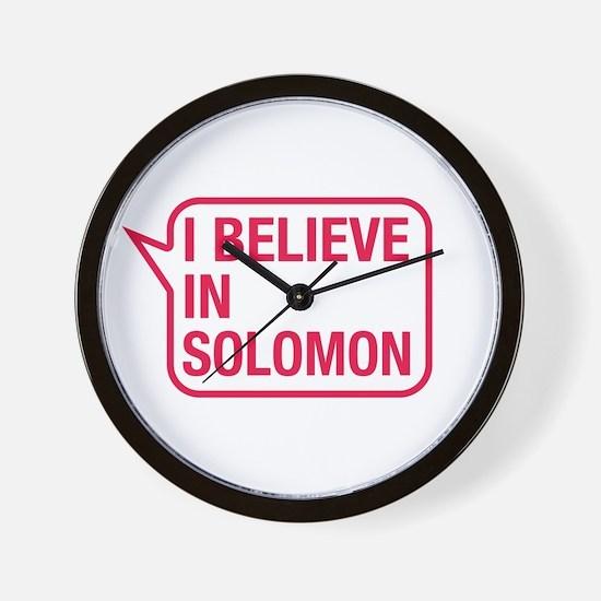 I Believe In Solomon Wall Clock