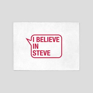 I Believe In Steve 5'x7'Area Rug