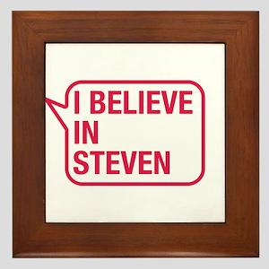 I Believe In Steven Framed Tile
