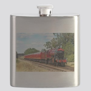 Vintage Steam Engine Flask