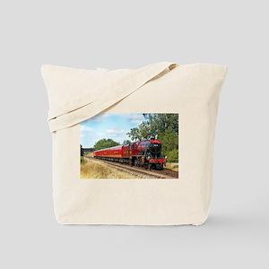 Vintage Steam Engine Tote Bag