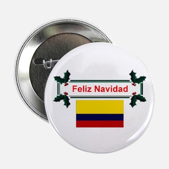 Colombian Feliz Navidad Button