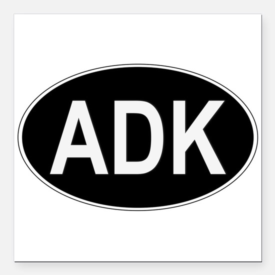 "ADK Euro Oval Square Car Magnet 3"" x 3"""