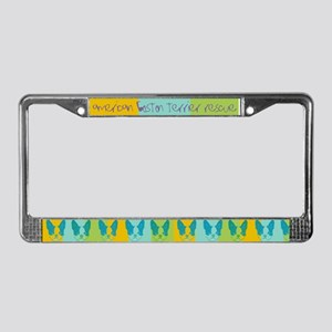 Vintage Boston License Plate Frame