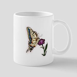 Butterfly on Flower (Txt) Mug