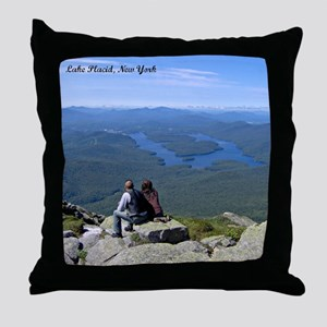 View of Lake Placid Throw Pillow