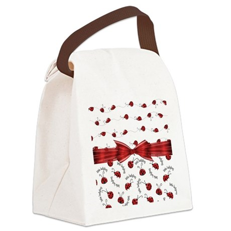 Perfect Little Ladybugs Canvas Lunch Bag